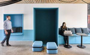 Oficinas Lounge, Ghislaine Viñas Interior Design elige Viccarbe